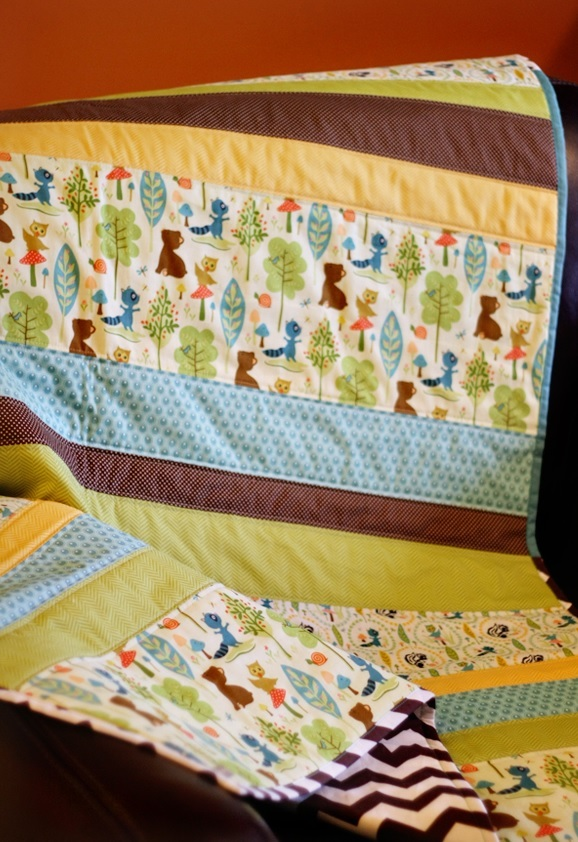 Straight Line Baby Quilt Patterns Favequilts Com