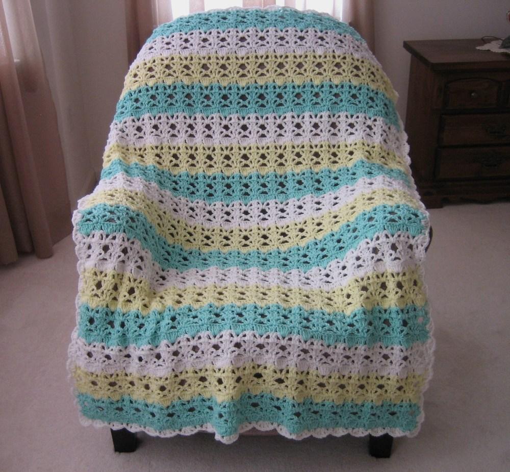 springtime lace easy crochet afghan pattern favecraftscom