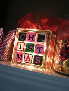 Light Up Christmas Block