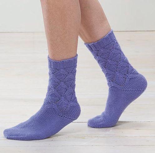 d0d2808537ac Lotus Blossom Knit Socks