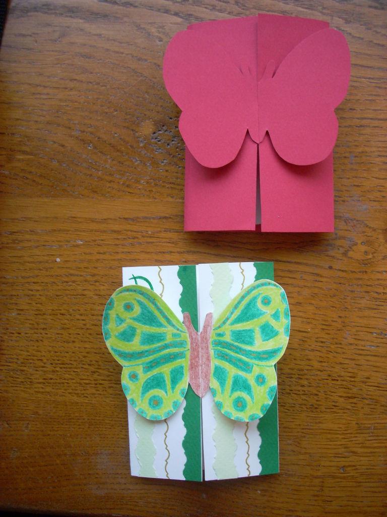 Открытки бабочки своими руками