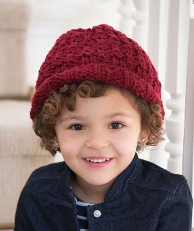 Childs Marsala Knit Hat AllFreeKnitting.com