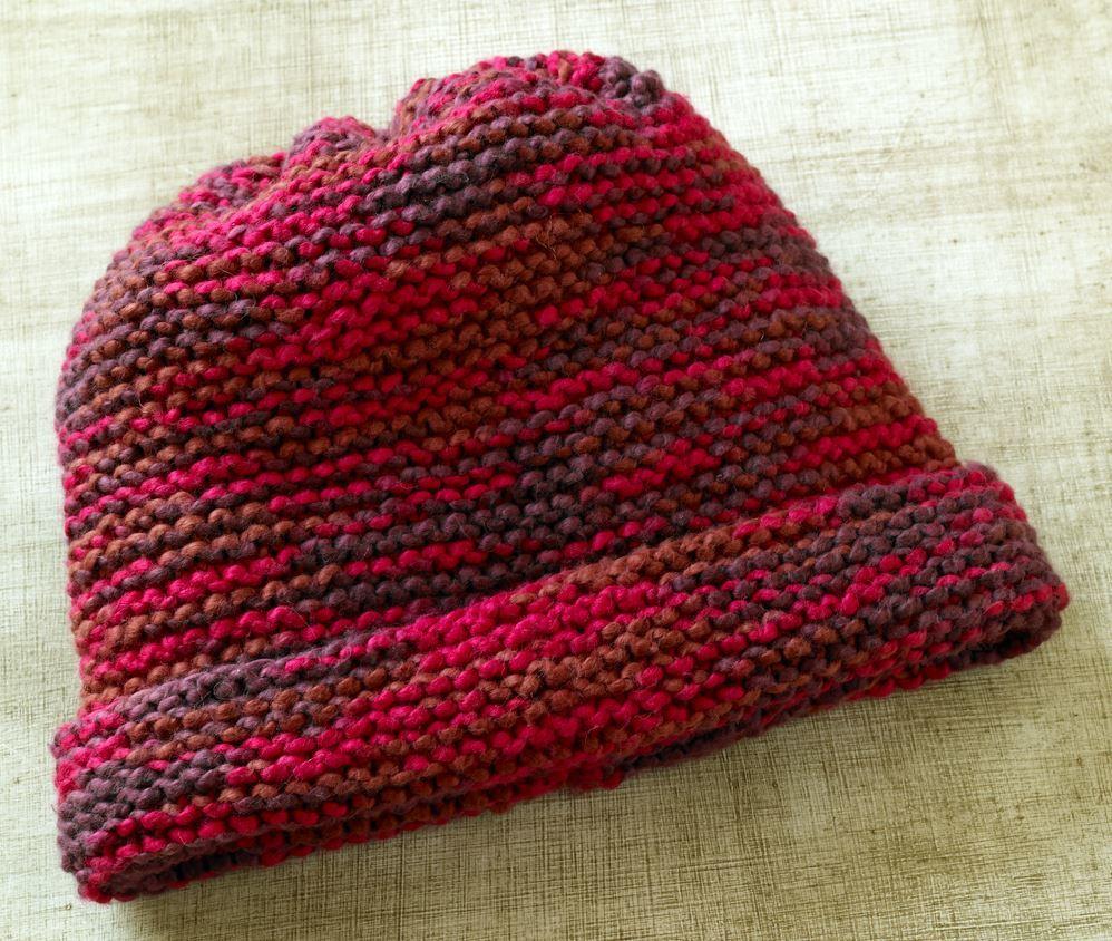 Grandmas Favorite Garter Stitch Hat AllFreeKnitting.com
