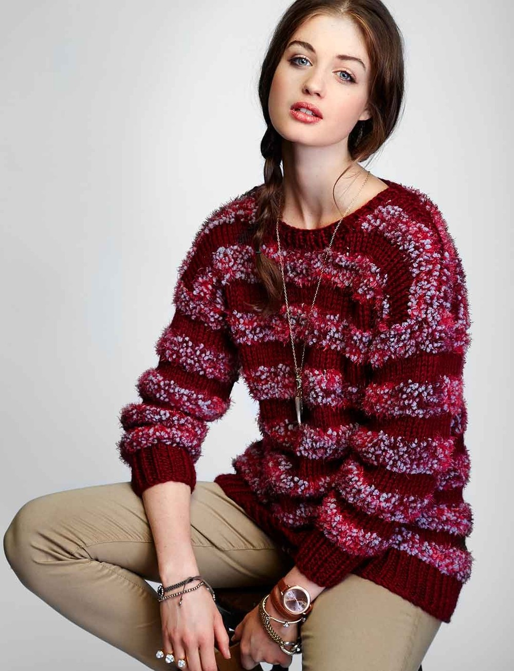 61ac0b2ca Lazy Day Striped Pullover Pattern