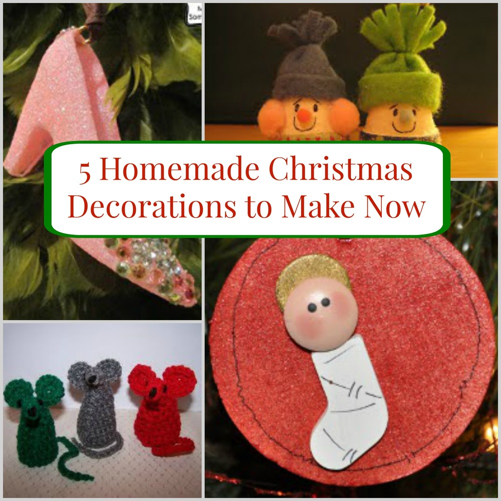 5 homemade christmas decorations to make now for Simple christmas decorations to make