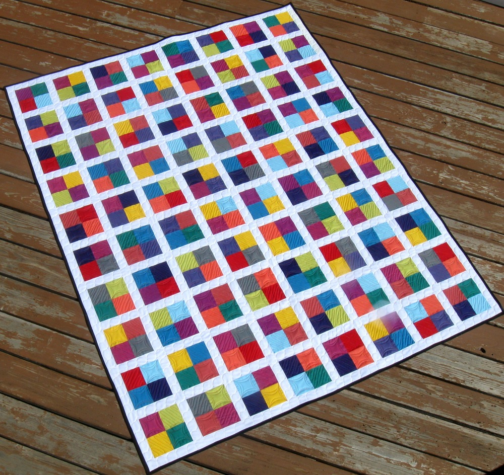 Four Square Free Quilting Pattern FaveQuilts.com