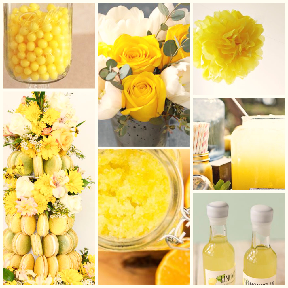 Summer Wedding Colors Yellow Allfreediyweddings Com