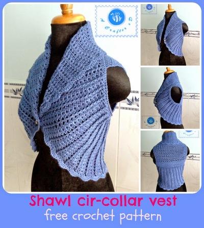 Shawl Cir-Collar Vest Free Easy Crochet Pattern ...