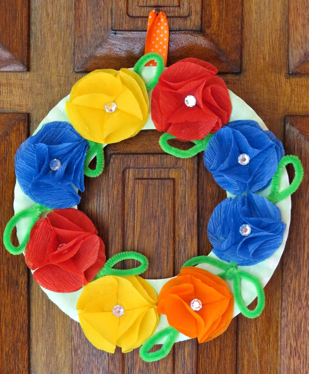 Colorful summer 39 s day poppy wreath for Colorful summer wreaths