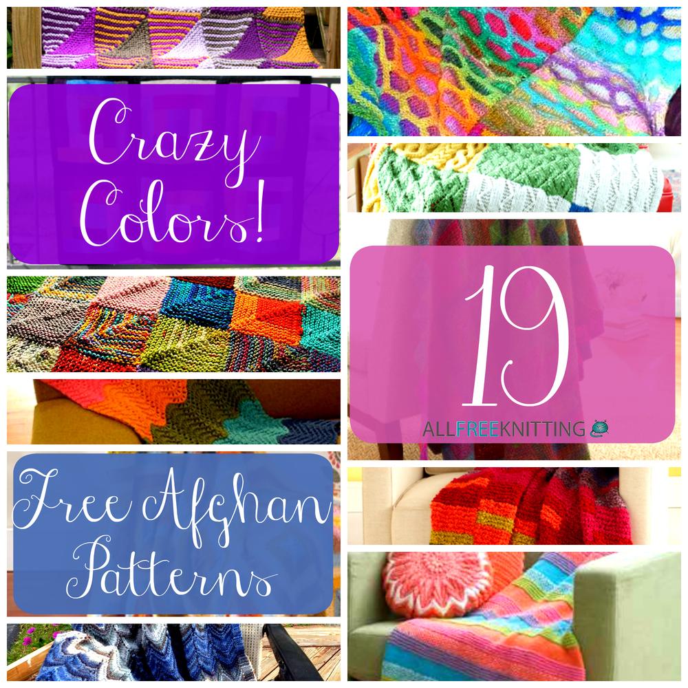 Crazy Colors 19 Free Afghan Patterns Allfreeknitting Com