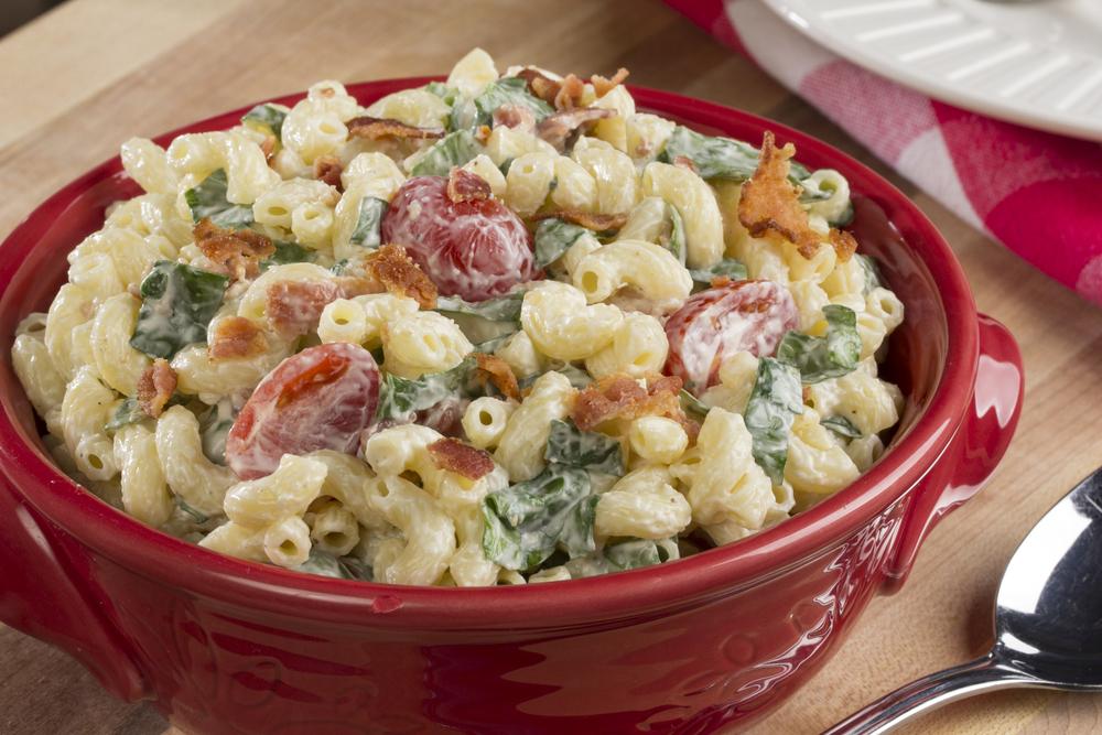 BLT Macaroni Salad | MrFood.com