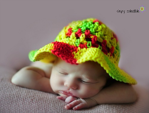 Child s Easy Crochet Sun Hat  e3f707317da