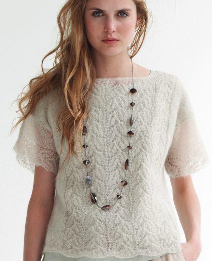 A Crush on Lace Knit Top AllFreeKnitting.com