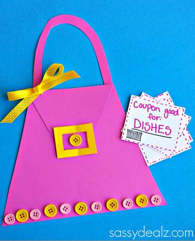 Mother S Day Purse Card Making Idea Allfreekidscrafts Com