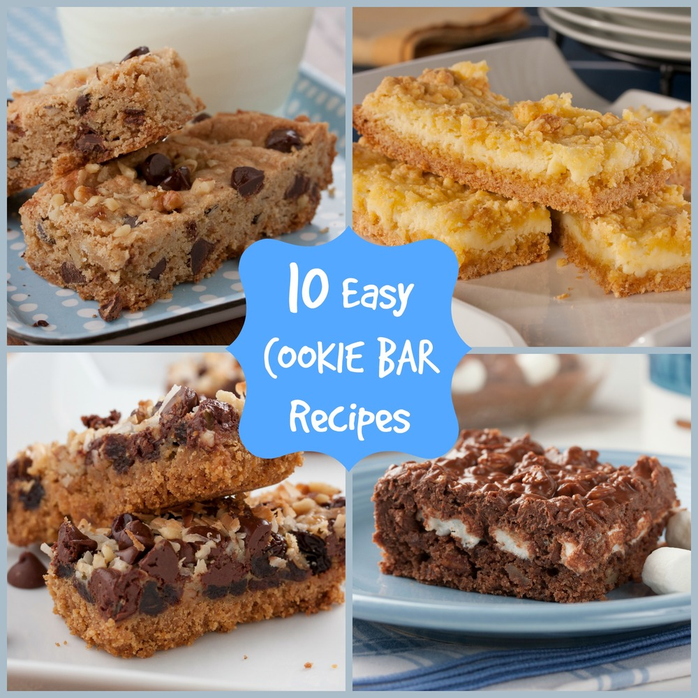 10 Easy Cookie Bar Recipes