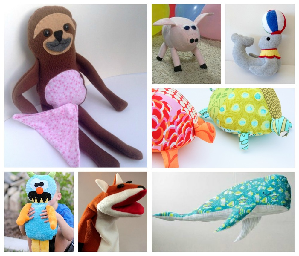 25 easy stuffed animal patterns for Sewing templates for stuffed animals