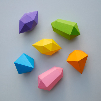 Paper Gemstones
