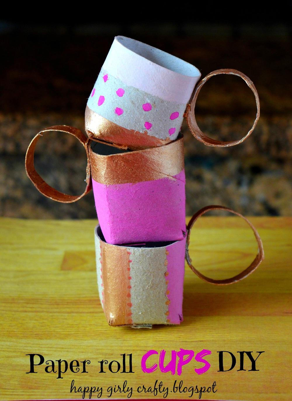 Toilet Paper Roll Tea Cups Allfreekidscrafts Com
