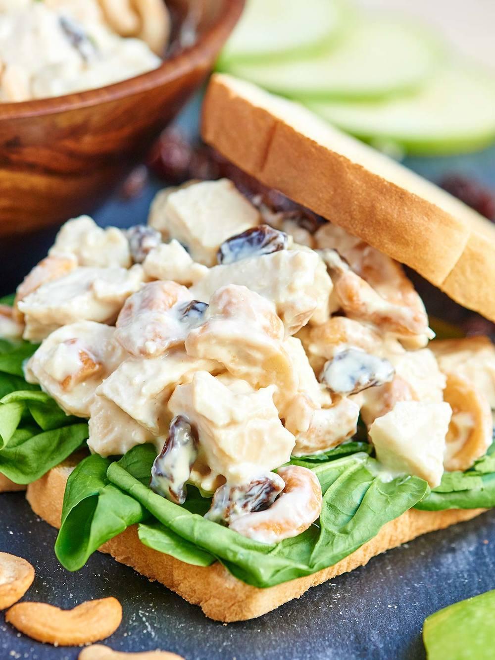 No Mayo Chicken Salad Sandwich Favehealthyrecipes Com