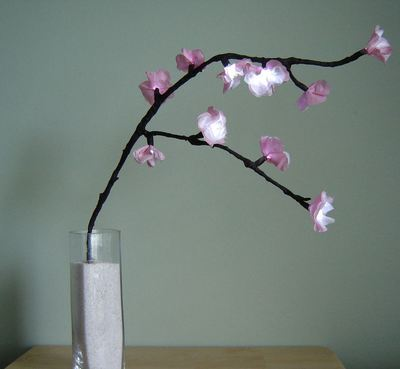 how to make cherry blossoms out of crepe paper