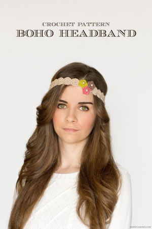 Crochet Flowers Headband Pattern