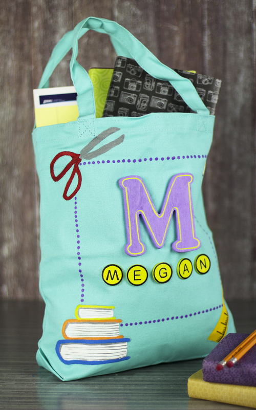 Back To School Homemade Tote Bag