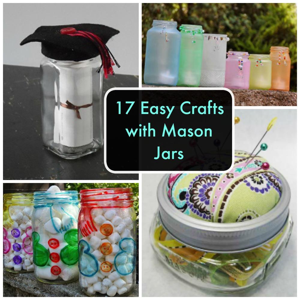 17 easy crafts with mason jars for Crafts using mason jars