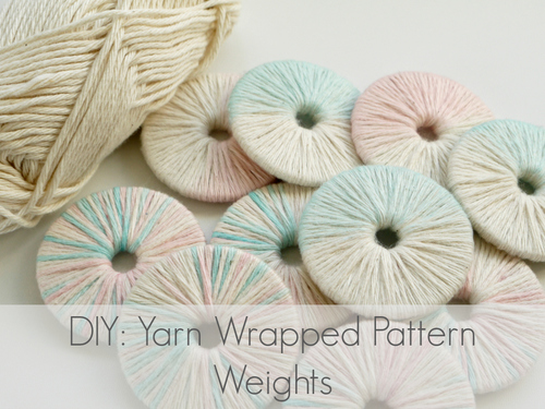 Yarn Wrapped Pattern Weights