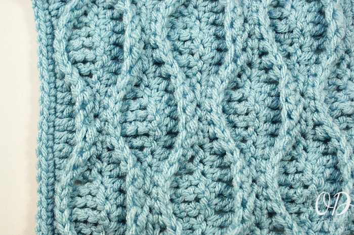 Double Wave Stitch And Granny Square Pattern