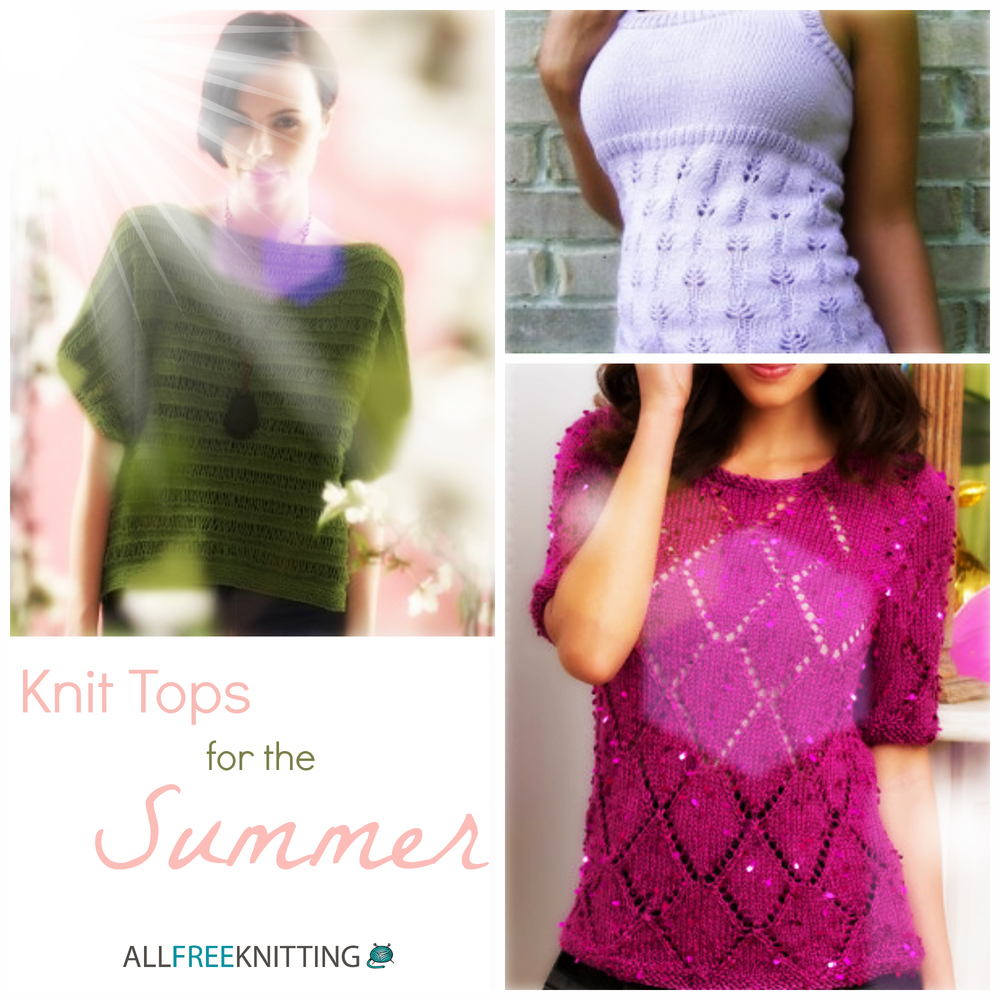 Knitted Summer Tops Patterns : 17 Knit Tops for the Summer AllFreeKnitting.com