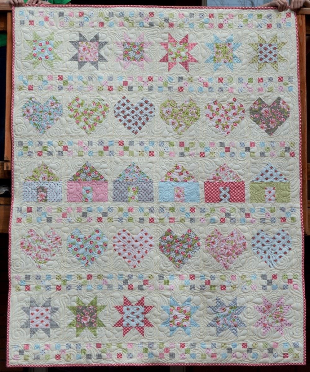 All In A Row Free Quilt Pattern Favequilts Com