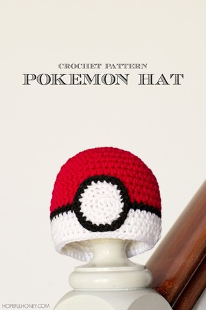 Baby Pokeball Crochet Hat Pattern