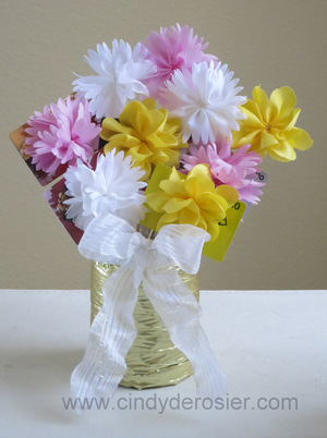Fabric Flower Gift Card Bouquet