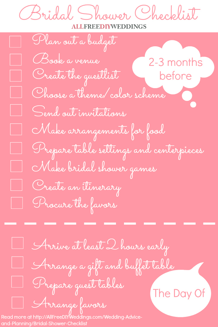 picture about Bridal Shower Checklist Printable identify Bridal Shower List