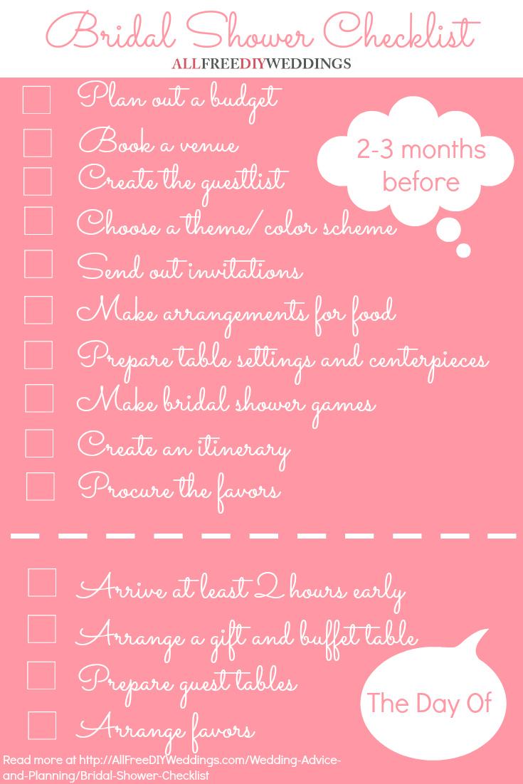 picture about Bridal Shower Checklist Printable identify Bridal Shower List