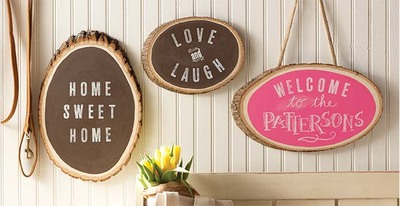 Welcome Wood Slices