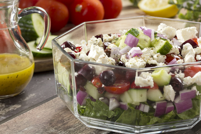 The Ultimate Greek Layered Salad