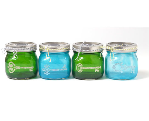 Colorful Mini Mason Jars