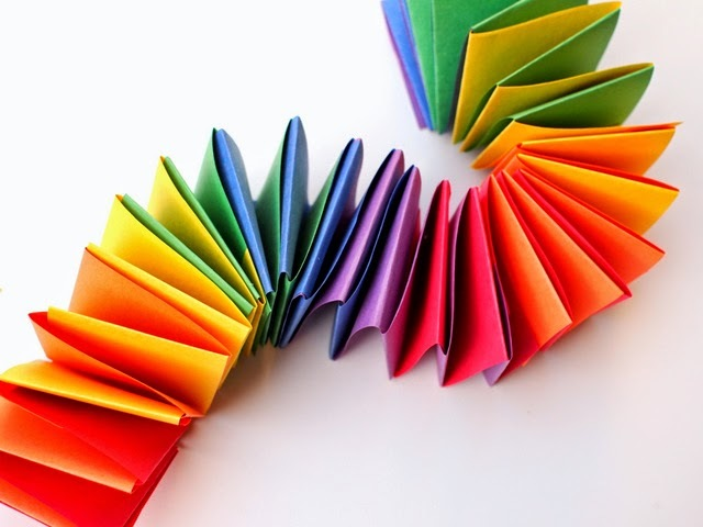 Rainbow Accordion Paper Garland Favecrafts Com