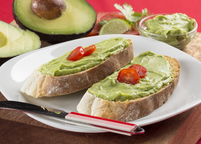Ciabatta Toast with Avocado Butter