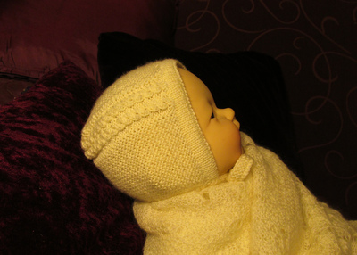 Princess Charlotte Baby Bonnet AllFreeKnitting.com