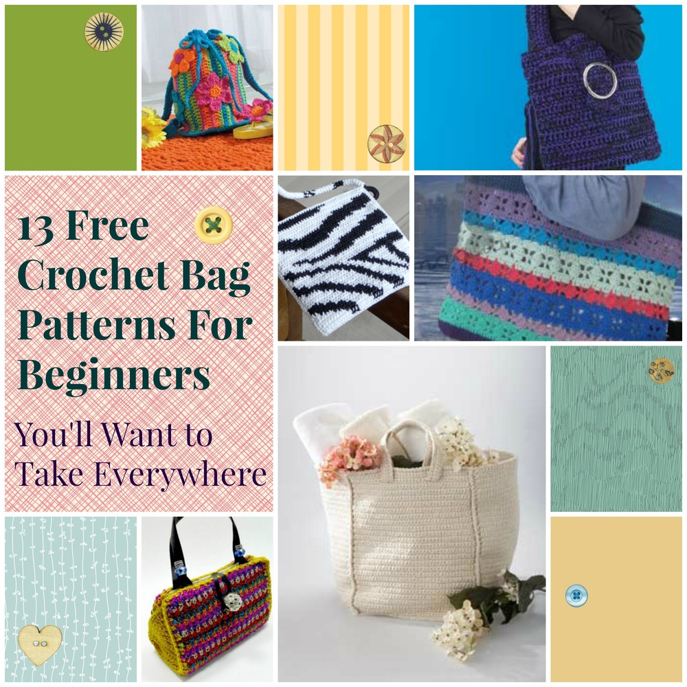 13 free crochet bag patterns for beginners you 39 ll want to for Easy crafts for beginners