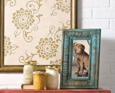 Distressed Painted Frame