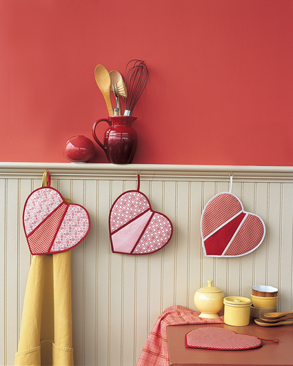Heart-Shaped Pot Holders
