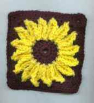 Sunflower Square Afghan Pattern AllFreeCrochet.com