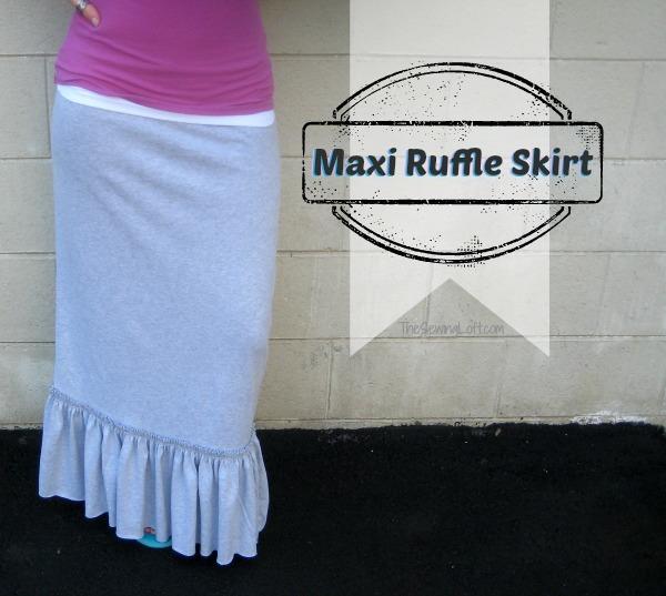 Ruffle Maxi Skirt Tutorial FaveCrafts