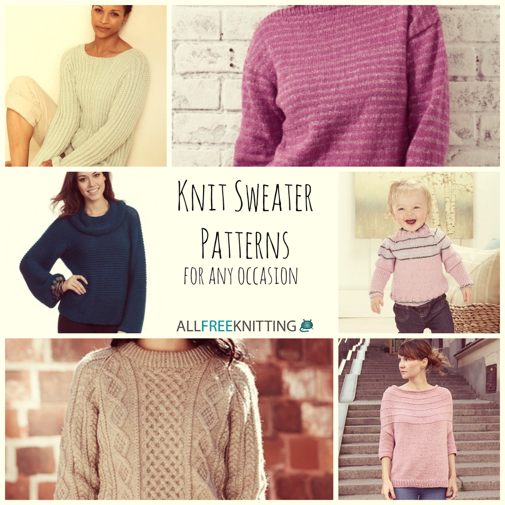 b3cf0d156 15 Knit Sweater Patterns for Any Occasion