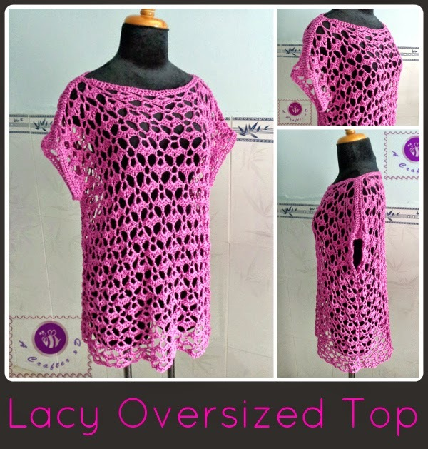Crochet Patterns Tops : Lacy Crochet Top Pattern FaveCrafts.com