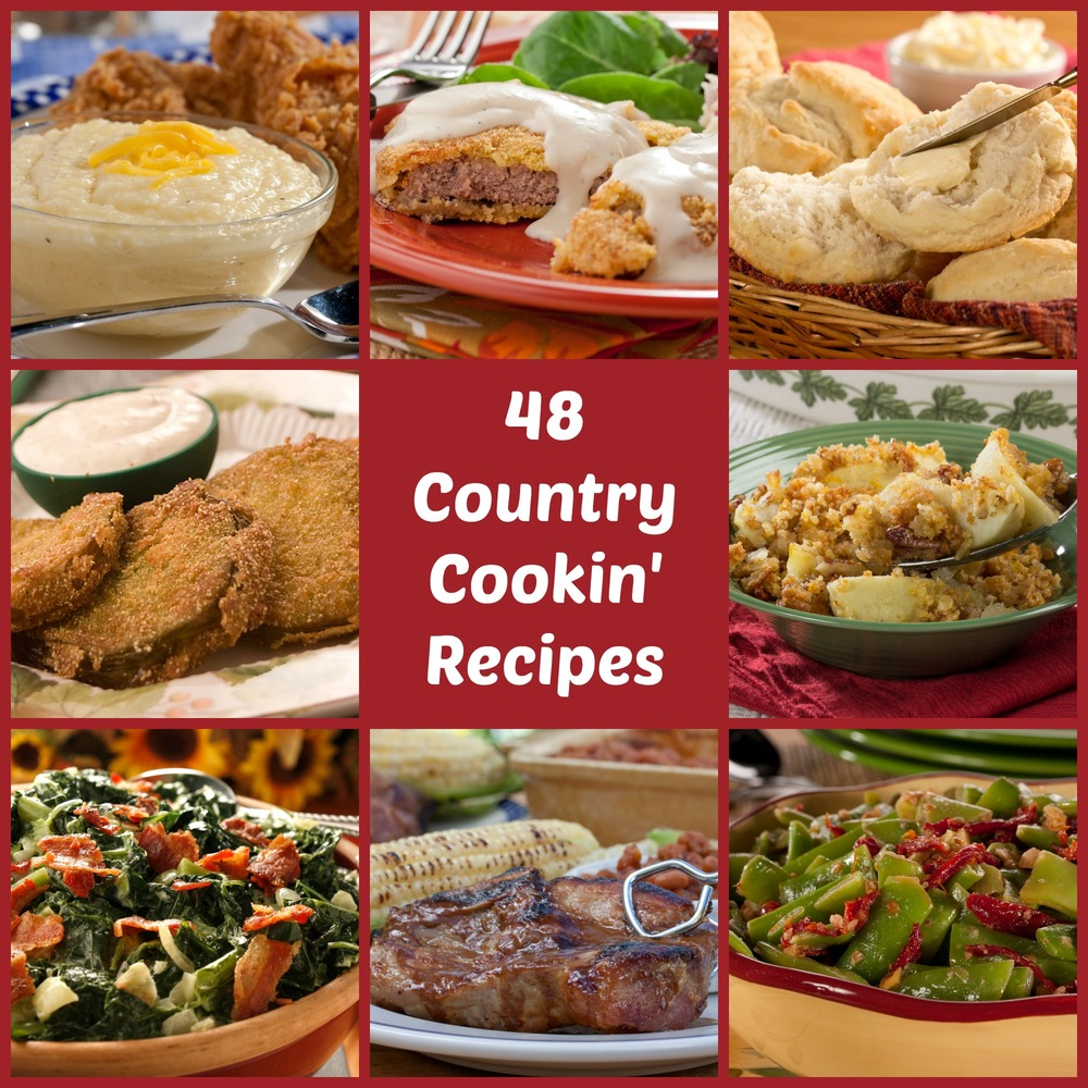 Kitchen Recipes: Country Cooking: 48 Best-Loved Southern Comfort Recipes