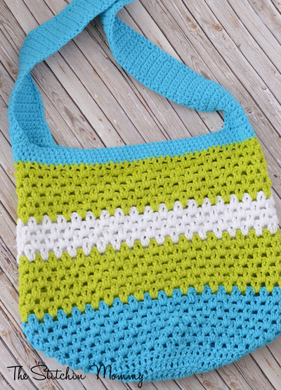 Summer Fun Crochet Tote AllFreeCrochet.com